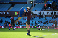 Oli McBurnie of Swansea City during the pre-match warm-up for the Sky Bet Championship match between Aston Villa and Swansea City at Villa Park in Birmingham, England, UK.  Saturday 20 October  2018