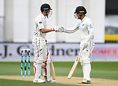 3rd December 2017, Wellington, New Zealand;  Tom Blundell and Trent Boult during their partnership. Day 3. New Zealand Black Caps v West Indies. 1st test match of the ANZ International Cricket Season 2017/18 season. Basin Reserve, Wellington,