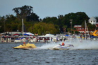 "E-37 ""Hire Voltage"" and John Taggart, F-1 ""The Buckeye Kid"" (Ron Jones cabover hydroplane)"