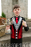 Champion : Sean Slemon, Moyvane pictured with his medal & cup that he won at the Irish Dancing championships in Killarney.