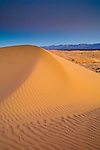 Dawn light over sand dunes, North Algodones Dunes Wilderness, Imperial County, California