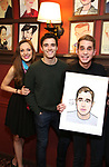 Laura Osnes, Corey Cott and Ben Platt during the Ben Platt Sardi's Portrait unveiling at Sardi's on May 30, 2017 in New York City.