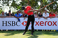 Tiger Woods (USA) teeing off on the 8th during Sunday's Final Round of the HSBC Golf Championship at the Abu Dhabi Golf Club, United Arab Emirates, 29th January 2012 (Photo Eoin Clarke/www.golffile.ie)