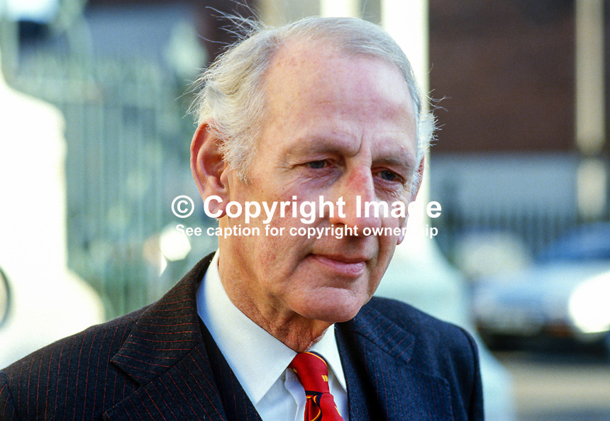 Louis Lord, retired principal, Belfast Royal Academy, N Ireland, 19850024LL..Copyright Image from Victor Patterson, 54 Dorchester Park, Belfast, UK, BT9 6RJ..Tel: +44 28 9066 1296.Mob: +44 7802 353836.Voicemail +44 20 8816 7153.Skype: victorpattersonbelfast.Email: victorpatterson@mac.com.Email: victorpatterson@ireland.com (back-up)..IMPORTANT: If you wish to use this image or any other of my images please go to www.victorpatterson.com and click on the Terms & Conditions. Then contact me by email or phone with the reference number(s) of the image(s) concerned.