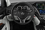 Car pictures of steering wheel view of a 2017 Acura MDX SH-AWD Advance & Entertainment Package 5 Door SUV
