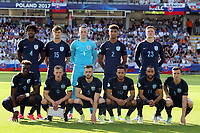England Under21 line up before Slovakia Under-21 vs England Under-21, UEFA European Under-21 Championship Football at The Kolporter Arena on 19th June 2017