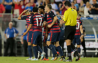 Tampa, FL - July 12, 2017: The USMNT (USA) defeated Martinique (MAR) 3-2 in a 2017 Gold Cup group stage match at Raymond James Stadium.