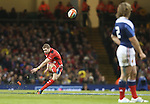 Wales full back Leigh Halfpenny attempts a long range penalty kick.<br /> RBS 6 Nations 2014<br /> Wales v France<br /> Millennium Stadium<br /> 21.02.14<br /> <br /> &copy;Steve Pope-SPORTINGWALES