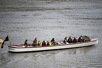 Putney, London,  Tideway Week, Championship Course. River Thames, OUBC VS CUBC, Veterans Boat Race.  Oxford's &quot;Bosporos&quot;.<br /> <br />  Saturday  01/04/2017<br /> <br /> [Mandatory Credit; Credit: Peter SPURRIER/Intersport Images.com ]