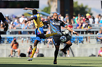 San Jose, CA - Saturday July 29, 2017: Victor Bernardez during a Major League Soccer (MLS) match between the San Jose Earthquakes and Colorado Rapids at Avaya Stadium.