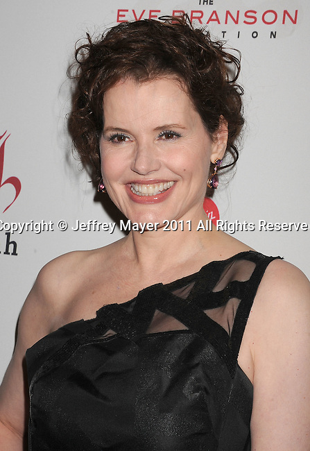 HOLLYWOOD, CA - NOVEMBER 16: Geena Davis arrives at the 5th Annual Rock The Kashbah at Boulevard 3 on November 16, 2011 in Hollywood, California.