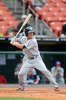 Lehigh Valley IronPigs shortstop Troy Hanzawa #2 during the first game of a double header against the Buffalo Bisons on June 7, 2013 at Coca-Cola Field in Buffalo, New York.  Buffalo defeated Lehigh Valley 4-3.  (Mike Janes/Four Seam Images)