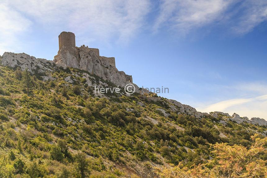 France, Aude (11), Cucugnan, Château de Quéribus // France, Aude, Cucugnan, Queribus Castle
