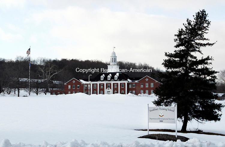 Southbury, CT- 12 February 2013-021213CM02-  A bill is pending in the legislature that would allow the state's agricultural land, including the 800 acres at the Southbury Training School, to be overseen by a third party that would recruit farmers to tend the land.  That would preclude development on these parcels.    Christopher Massa Republican-American