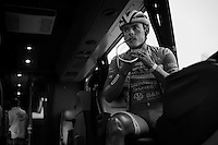 Bjorn Leukemans (BEL/Wanty-Groupe Gobert) getting ready in the teambus<br /> <br /> stage 5: Eindhoven - Boxtel (183km)<br /> 29th Ster ZLM Tour 2015