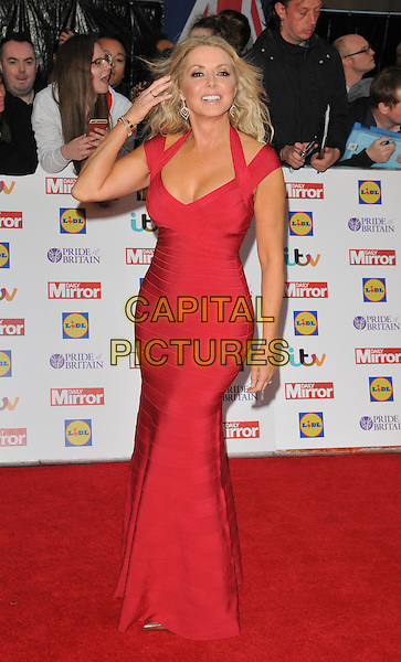 Carol Vorderman attends the Daily Mirror Pride of Britain Awards 2015, Grosvenor House Hotel, Park Lane, London, England, UK, on Monday 28 September 2015. <br /> CAP/CAN<br /> &copy;Can Nguyen/Capital Pictures