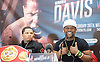 Floyd Mayweather Jr &amp; Frank Warren press conference at The Savoy Hotel, London, Great Britain <br /> 7th March 2017 <br /> <br /> <br /> <br /> Gervonta Davis <br /> (an American professional boxer who has held the IBF junior lightweight title since January 2017)<br /> <br /> Floyd Joy Mayweather Jr. is an American former professional boxer who competed from 1996 to 2015 and currently works as a boxing promoter. <br /> <br /> <br /> Photograph by Elliott Franks <br /> Image licensed to Elliott Franks Photography Services