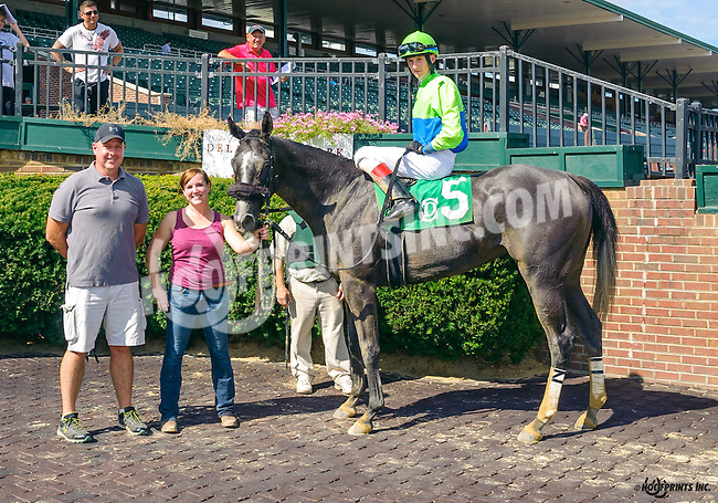 Xtra Blues winning at Delaware Park on 8/15/16