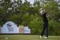 Whee Kim (KOR) watches his tee shot on 15 during Round 1 of the Valero Texas Open, AT&amp;T Oaks Course, TPC San Antonio, San Antonio, Texas, USA. 4/19/2018.<br /> Picture: Golffile | Ken Murray<br /> <br /> <br /> All photo usage must carry mandatory copyright credit (&copy; Golffile | Ken Murray)