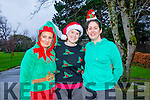 l-r  Michelle O'Sullivan, Mairead O'Criodain and Rachel Pinckheard at the Christmas Park Run on Saturday