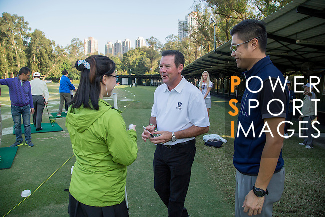 Rich Beem of USA gives a golf clinic during the 58th UBS Hong Kong Golf Open as part of the European Tour on 09 December 2016, at the Hong Kong Golf Club, Fanling, Hong Kong, China. Photo by Vivek Prakash / Power Sport Images