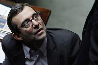 Roberto Giachetti Partito Democratico Pd.Roma 25/01/2012 Voto alla Camera dei Deputati per la mozione unitaria sulla politica europea dell'Italia.Foto Insidefoto Serena Cremaschi