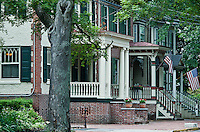 Victorion homes, High Street, Mount Holly, New Jersey, USA