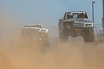 Super Trucks in action before the DXC Technology 600 race at Texas Motor Speedway in Fort Worth,Texas.
