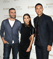 NEW YORK, NY-July 14:  Oscar Isaac, Eva Longoria, Trevor Noah, at Chivas Regal presents The Venture Grand Finale at Pier 59 West Side Highway in New York. NY July 14, 2016. Credit:RW/MediaPunch