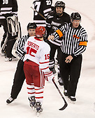 Tommy George, Nick Roberto (BU - 15), Scott Conway (PC - 10), Kevin Keenan - The Boston University Terriers tied the visiting Providence College Friars 2-2 on Saturday, December 3, 2016, at Agganis Arena in Boston, Massachusetts.