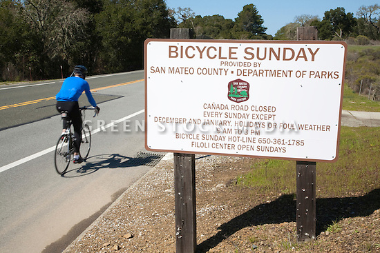 Canada Road is closed to car traffic on Bicycle Sundays so that bicyclists can enjoy the road safely.
