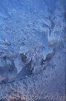 Amérique/Amérique du Nord/Canada/Quebec/Charlevoix : Givre sur une glace
