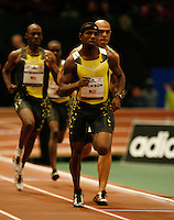 Bershawn Jackson winning the Mel Sheppard 600 yard run at the 101st. MILLROSE Games with a time of 1:10.34sec. held at Madison Square Garden on Friday, February 1, 2008. Photo by Errol Anderson,The Sporting Image..