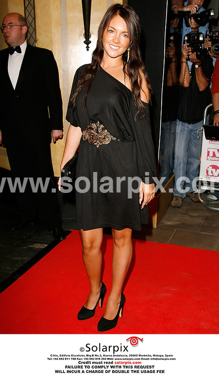 "ALL ROUND PICTURES FROM SOLARPIX.COM..Lacey Turner arrives for the 2006 TV Quick and TV Choice awards at the Dorchester Hotel, London...DATE: 04/09/2006-JOB REF: 2775-PRS..""MUST CREDIT SOLARPIX.COM OR DOUBLE FEE WILL BE CHARGED"""