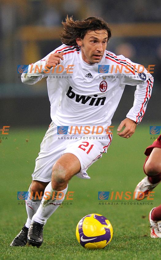 Andrea Pirlo (Milan)<br /> Roma 11/1/2009 Stadio &quot;Olimpico&quot; <br /> Campionato Italiano Serie A 2008/2009<br /> Roma Milan (2-2)<br /> Foto Andrea Staccioli Insidefoto