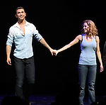 Paul Fleeshman & Caissie Levy.during the Broadway Opening Night Performance Curtain Call for  'GHOST' a the Lunt-Fontanne Theater on 4/23/2012 in New York City.