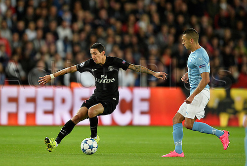 15.09.2015. Paris, France. UEFA Champions League football. Paris St Germain versus Malmo.  Angel Di Maria (psg)