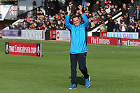 Sutton manager Paul Doswell claps the away fans during Cambridge United vs Sutton United , Emirates FA Cup Football at the Cambs Glass Stadium on 5th November 2017