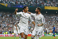 Real Madrid´s Cristiano Ronaldo  and Sergio Ramos celebrating goal of Ronado