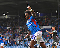 Ellis Harrison of Portsmouth celebrates scoring the first goal during Portsmouth vs Birmingham City, Caraboa Cup Football at Fratton Park on 6th August 2019