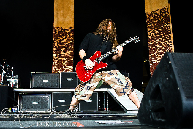 Lamb of God performing at Mayhem 2010
