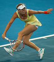 CAROLINE WOZNIACKI (DEN) against TSVETANA PIRONKOVA (BUL) in the Group stage of the Hopman Cup. ..04/01/2012, 4th January 2012, 04.01.2012..The HOPMAN CUP, Burswood Dome, Perth, Western Australia, Australia.@AMN IMAGES, Frey, Advantage Media Network, 30, Cleveland Street, London, W1T 4JD .Tel - +44 208 947 0100..email - mfrey@advantagemedianet.com..www.amnimages.photoshelter.com.