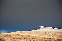 Corn Du with early winter frost, Brecon Beacons national park, Wales