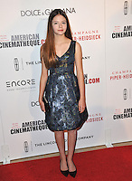 Mackenzie Foy at the 28th Annual American Cinematheque Award Gala honoring Matthew McConaughey at the Beverly Hilton Hotel.<br /> October 21, 2014  Beverly Hills, CA<br /> Picture: Paul Smith / Featureflash