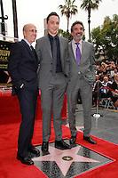 Jeffrey Katzenberg, Jim Parsons, Chuck Lorre<br /> at the Jim Parsons Star on the Hollywood Walk of Fame, Hollywood, CA 03-11-15<br /> David Edwards/DailyCeleb.Com 818-249-4998