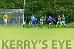 Darragh O'Connell of Jnocknagoshe clears his defence against Annascaul  in the Kerry Junior Club Championship round 1 game on Sunday.