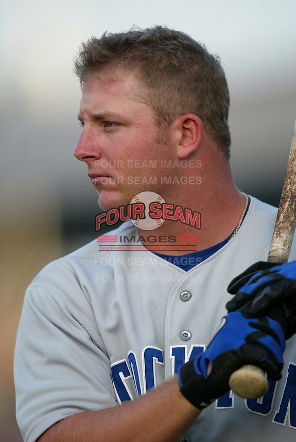 Drew Meyer of the Stockton Ports before a game against the Inland Empire 66ers at Staters Bros Stadium on June 5, 2003 in San Bernardino, California. (Larry Goren/Four Seam Images)