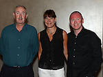 Gerald and Elaine O'Brien and John Harford pictured at the O'Brien family gathering in City North hotel. Photo:Colin Bell/pressphotos.ie
