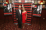 Producer Barry Weissler and Shiri Maimon attend a photo call for her Broadway debut as Roxie Hart in 'Chicago' on September 7, 2018 at Sardi's in New York City.
