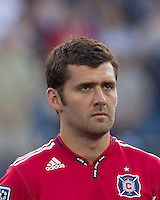 Chicago Fire defender Gonzalo Segares (13). In a Major League Soccer (MLS) match, the New England Revolution tied the Chicago Fire, 1-1, at Gillette Stadium on June 18, 2011.